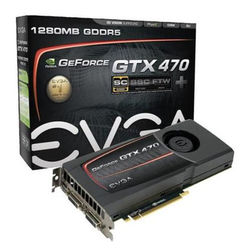 012-P3-1470-BR EVGA GeForce GTX 470 1280MB 320-Bit GDDR5 PCI Express 2.0 x16 HDCP Ready SLI Support Video Graphics Card