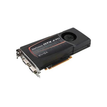 012-P3-1470-B6 EVGA GeForce GTX 470 1280MB 320-Bit GDDR5 PCI Express 2.0 x16 HDCP Ready SLI Support Dual DVI mini HDMI Video Graphics Card