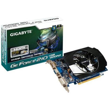 GV-N210D2-1GI Gigabyte GIGA-BYTEGeForce 210 Graphics Card PCI Express 2.0 x16 1GB GDDR2 SDRAM 2560 x 1600