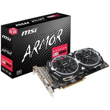 R580AR8C MSI ARMOR RX 580 ARMOR 8G OC Radeon RX 580 Graphic Card 1.37 GHz Boost Clock 8GB GDDR5 PCI Express 3.0 x16