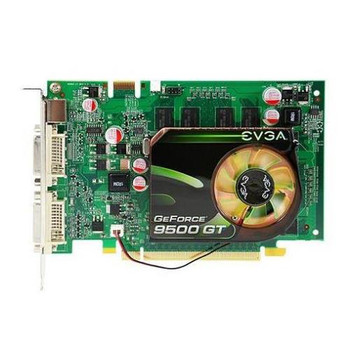 9500GT EVGA GeForce 9500 GT 512MB 128-Bit DDR2 PCI Express 2.0 x16 HDCP Ready/ SLI Support Video Graphics Card