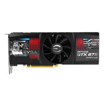012-P3-1178-BE EVGA GeForce GTX 275 CO-OP PhysX Edition 1280MB DDR3 448+192-bit Dual DVI PCI Express 2.0 x16 Video Graphics Card