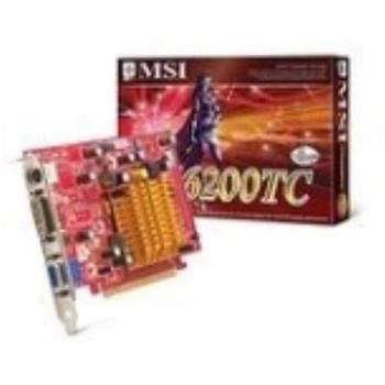 NX6200TC-TD128E MSI Graphics Card 128MB S-Video