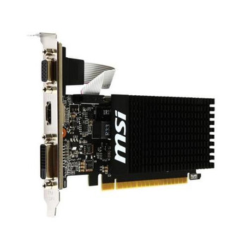 GT7101GD3HLP MSI 1GB Nvidia GeForce GT 710 DDR3 64-Bit VGA/ Dual Link DVI-D/ HDMI PCI Express 2.0 Video Graphics Card