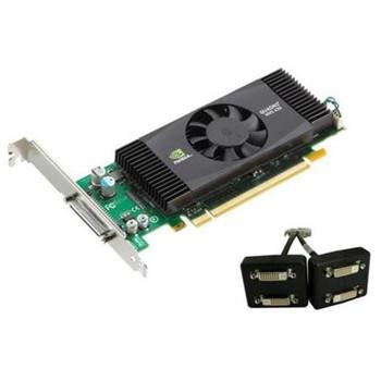 180-10737-0002-A03 Nvidia Quadro NVS 420 512MB (256MB Per GPU) 128-Bit (64-Bit per GPU) GDDR3 PCI Express 2.0 x16 VHDCI to Quad DVI-D SL Adapter Low P