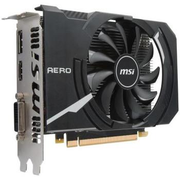 G1050TAI4C MSI GTX 1050 Ti AERO ITX 4G OC GeForce GTX 1050 Ti Graphic Card 1.34 GHz Core 1.46 GHz Boost Clock 4GB GDDR5 PCI Express 3.0 x16