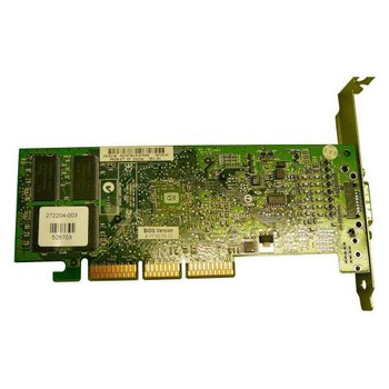 272204-003 HP Nvidia Quadro-4 200NVS 64MB AGP ATX Dual Monitor Video Card