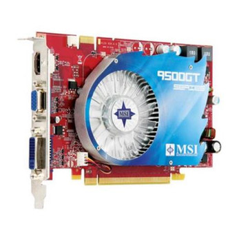N9500GT-MD512 MSI GeForce 9500 GT 512MB 128-Bit GDDR2 PCI Express 2.0 x16 HDCP Ready SLI Support Video Graphics Card