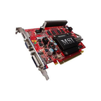 N95GT-MD512Z MSI GeForce 9500 GT 512MB 128-Bit GDDR2 PCI Express 2.0 x16 HDCP Ready Video Graphics Card