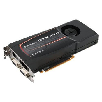 012-P3-1470-AR EVGA GeForce GTX 470 1280MB 320-Bit GDDR5 HDCP Ready SLI Support Dual DVI/ mini HDMI PCI Express 2.0 x16 Video Graphics Card