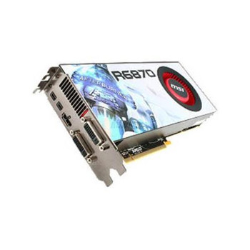 R6870-2PM2D1GD5 MSI Radeon HD 6870 1GB DDR5 256-Bit PCI Express 2.1 x16 Dual DVI-I/ HDMI/ 2x Mini DisplayPort HDCP Support Video Graphics Card