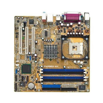 P4P800-MX ASUS Socket 478 Intel 865GV/ICH5 Chipset micro-ATX Motherboard (Refurbished)