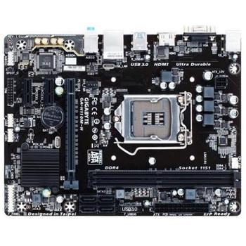 GA-H110M-H Gigabyte Ultra Durable Desktop Motherboard Intel H110 Chipset Socket H4 LGA-1151 (Refurbished)