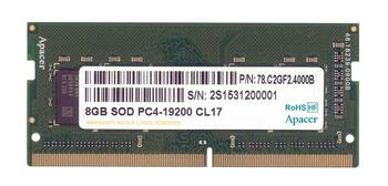 78.C2GF2.4000B Apacer 8GB DDR4 SoDimm Non ECC PC4-19200 2400Mhz 1Rx8 Memory