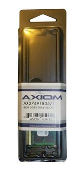 AX27491835/1 Axiom 4GB DDR3 SoDimm Non ECC PC3-8500 1066Mhz 2Rx8 Memory