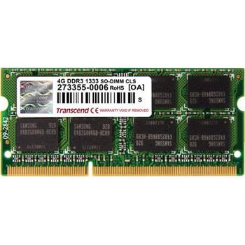 TS512MSK64V3N Transcend 4GB DDR3 SoDimm Non ECC PC3-10600 1333Mhz 2Rx8 Memory