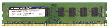 W1600UB4GV Super Talent 4GB DDR3 Non ECC PC3-12800 1600Mhz 2Rx8 Memory
