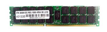 900714 VisionTek 32GB DDR3 Registered ECC PC3-12800 1600Mhz 4Rx4 Memory