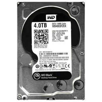 WD4003FZEX-00Z4SA0 Western Digital 4TB 7200RPM SATA 6.0 Gbps 3.5 64MB Cache Black Hard Drive
