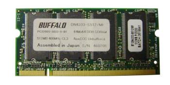 DN4333-S512 Buffalo 512MB DDR SoDimm Non ECC PC-3200 400Mhz Memory