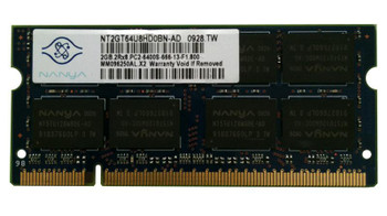 NT2GT64U8HD0BN-AD Nanya 2GB DDR2 SoDimm Non ECC PC2-6400 800Mhz Memory