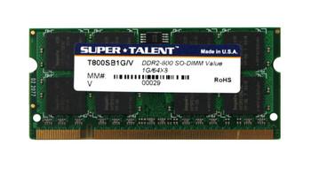 T800SB1G/V Super Talent 1GB DDR2 SoDimm Non ECC PC2-6400 800Mhz Memory