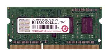 TS256MSK64V3N Transcend 2GB DDR3 SoDimm Non ECC PC3-10600 1333Mhz 1Rx8 Memory