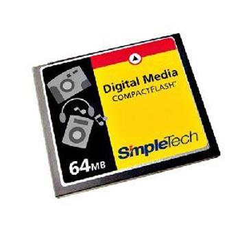 STI-CFAD/64A SimpleTech 64MB CompactFlash (CF) Memory Card