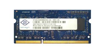 NT2GC64B88B0NS-CG Nanya 2GB DDR3 SoDimm Non ECC PC3-10600 1333Mhz 1Rx8 Memory