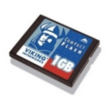 2XCF1GB Viking 1GB CompactFlash (CF) Memory Card