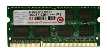 TS4GAP1066S Transcend 4GB DDR3 SoDimm Non ECC PC3-8500 1066Mhz 2Rx8 Memory