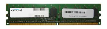 CT12864AA40E.16F Crucial 1GB DDR2 Non ECC PC2-3200 400Mhz Memory