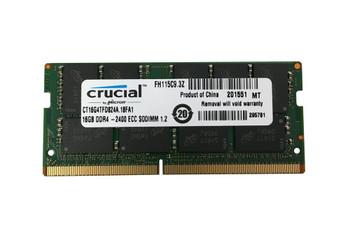 CT16G4TFD824A.18FA1 Crucial 16GB DDR4 SoDimm ECC PC4-19200 2400Mhz 2Rx8 Memory