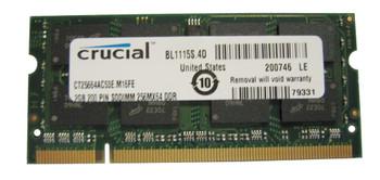 CT25664AC53E.M16FE Crucial 2GB DDR2 SoDimm Non ECC PC2-4200 533Mhz Memory