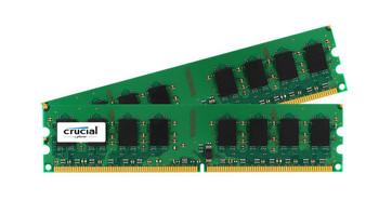 CT2KIT12864AA53E Crucial 2GB (2x1GB) DDR2 Non ECC PC2-4200 533Mhz Memory
