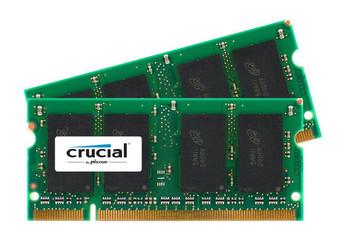 CT2KT12864AC66 Crucial 2GB (2x1GB) DDR2 SoDimm Non ECC PC2-5300 667Mhz Memory