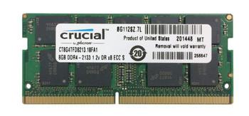 CT8G4TFD8213.18FA1 Crucial 8GB DDR4 SoDimm ECC PC4-17000 2133Mhz 2Rx8 Memory