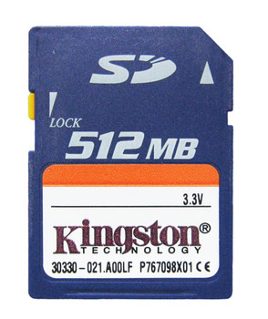 SD/512 Kingston 512MB SD Flash Memory Card