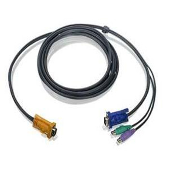 G2L5202P IOGEAR PS/2 KVM Cable HD-15 Male mini-DIN Male HD-15 Male 6ft
