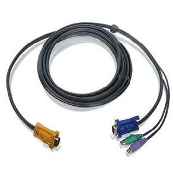 G2L5203P IOGEAR PS/2 KVM Cable HD-15 Male mini-DIN Male HD-15 Male 10ft