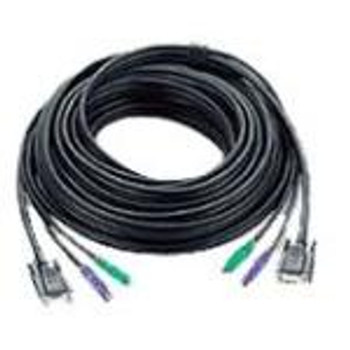 2L-1020P/C ATEN PS/2 KVM Cable mini-DIN (PS/2) Male HD-15 Female mini-DIN (PS/2) Male HD-15 Male 65.62ft