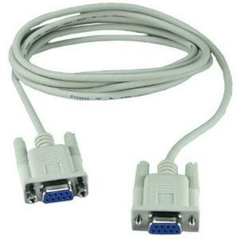 CC2045-10N QVS Null modem cable DB-9 Female Serial DB-9 Female Serial 10ft