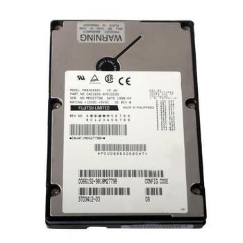 CA01606-B35100SD Fujitsu 4GB 7200RPM Ultra2 Wide SCSI 3.5 512KB Cache Hot Swap Hard Drive