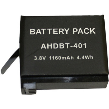 GPRO-AHDBT-401 BTI Battery Pack 1160 mAh Lithium Ion (Li-Ion) 3.8 V DC (Refurbished)