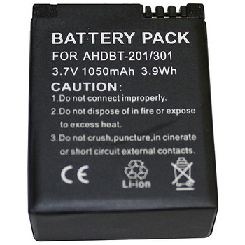 GPRO-AHDBT-201-301 BTI Battery Pack 1050 mAh Lithium Ion (Li-Ion) 3.7 V DC (Refurbished)