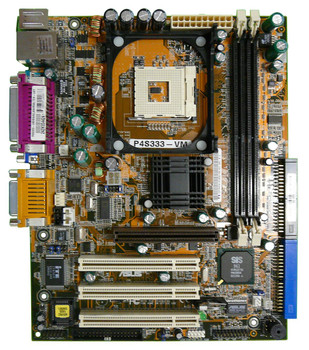 P4S333-VM ASUS Socket LGA478 Intel SiS650 Chipset micro-ATX Motherboard (Refurbished)