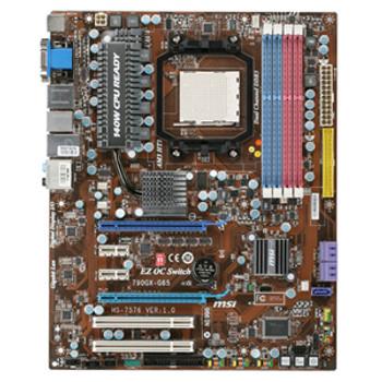 7576-010 MSI 790GX-G65 Socket AM3/ AMD 790GX/ HDMI/ A&V&GbE/ ATX Motherboard (Refurbished)