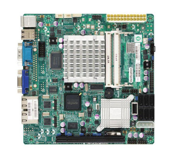 X7SPA-H-D525-B SuperMicro Intel Atom D525 Dual Core 1.8GHz Processor Intel ICH9R Express Chipset 6X SATA Server Motherboard (Refurbished)