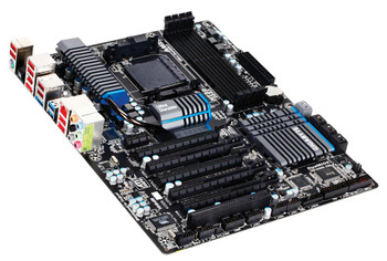 GA-990FXA-UD5 Gigabyte Socket AM3+ AMD 990X/ SB950 Chipset AMD AM3+ FX/ AM3 Phenom II/ Athlon II Processors Support DDR3 4x DIMM 6x SATA 6.0Gb/s ATX M