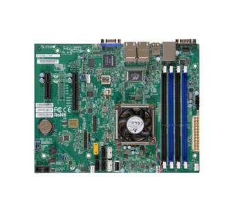 A1SAM2750FO SuperMicro Intel Atom C2750 DDR3 SATA3 V&4GBe Micro-ATX Motherboard & CPU Combo (Refurbished)